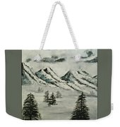 Mountain Foggy Dawn - In Abstract Realism Weekender Tote Bag