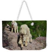 Mountain Goats- Nanny And Kid Weekender Tote Bag