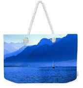 Mountains Across Lake Geneva Weekender Tote Bag by Jeremy Hayden