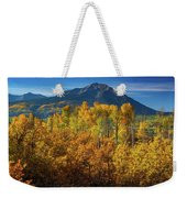 Mountains And Aspen Weekender Tote Bag by John De Bord