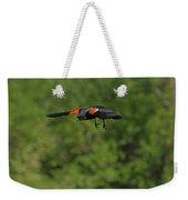 Mr. Red-winged Blackbird In-flight Weekender Tote Bag