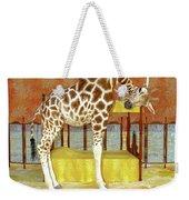 Ms Kitty And Her Giraffe  Weekender Tote Bag