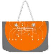 Munich Orange Subway Map Weekender Tote Bag