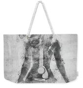Music Was My First Love In Black And White Weekender Tote Bag