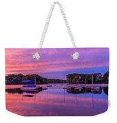 Mystic Lake Sunrise Weekender Tote Bag