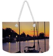 Narrow Sunset Weekender Tote Bag