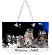 Nasa 50th Anniversary Of The Apollo 11 Lunar Landing By Artist Todd Krasovetz Weekender Tote Bag