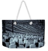National Cemetery In Black And White Weekender Tote Bag by Tom Singleton
