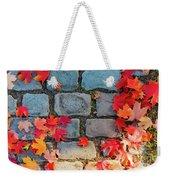 Natural Autumn Leaf Background  Weekender Tote Bag