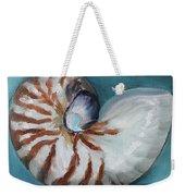 Nautilus Shell Weekender Tote Bag