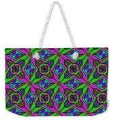 Neon Diamond Pattern Weekender Tote Bag