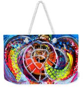 Neon Sea Turtle Wake And Drag Weekender Tote Bag