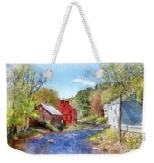 New Boston New Hampshire Watercolor Weekender Tote Bag