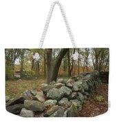 New England Stone Wall 1 Weekender Tote Bag by Nancy De Flon