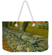 New England Stone Wall 2 Weekender Tote Bag by Nancy De Flon