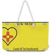 New Mexico State License Plateai Weekender Tote Bag