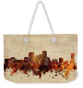 New Orleans Skyline Sepia Weekender Tote Bag