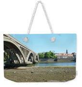 new road bridge across river Tweed at Berwick-upon-tweed Weekender Tote Bag