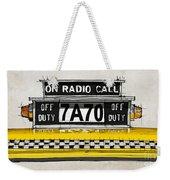 New York Cab Weekender Tote Bag
