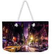 New York City Street Weekender Tote Bag