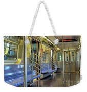 New York City Empty Subway Car Weekender Tote Bag