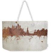 New York Rust Skyline Weekender Tote Bag