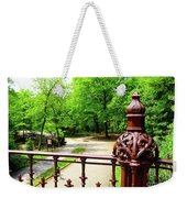 New York's Central Park Winterdale Arch Railing Cast Iron Art Weekender Tote Bag