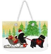 Newfoundland Dog Christmas Weekender Tote Bag