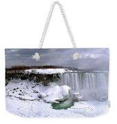 Niagara Falls Late Winter Weekender Tote Bag