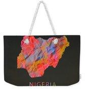 Nigeria Tie Dye Country Map Weekender Tote Bag