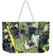 Night, Chicago, Illinois, Usa Weekender Tote Bag