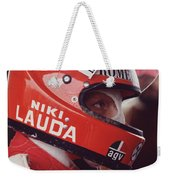 Niki Lauda. 1976 United States Grand Prix Weekender Tote Bag