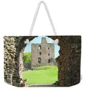 Norham Castle And Tower Through The Entrance Gate Weekender Tote Bag