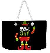 North Carolina Elf Xmas Elf Santa Helper Christmas Weekender Tote Bag