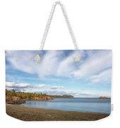 North Shore Black Beach Weekender Tote Bag by Susan Rissi Tregoning