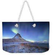 Northern Lights Atop Kirkjufell Iceland Weekender Tote Bag by Nathan Bush