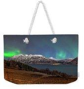 Northern Lights Over Grytoya Weekender Tote Bag