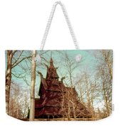 Norwegian Stave Church Weekender Tote Bag