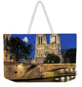 Notre Dame Cathedral Evening Weekender Tote Bag by Jemmy Archer