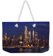 Nyc Sundown Gold And Twilight Skies Weekender Tote Bag