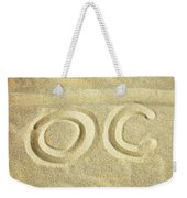 O C In The Ocean City Sand Weekender Tote Bag by Bill Swartwout Photography