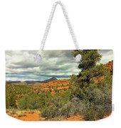 Oak Creek Baldwin Trail Blue Sky Clouds Red Rocks Scrub Vegetation Tree 0249 Weekender Tote Bag