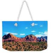Oak Creek Jack's Canyon Blue Sky Clouds Red Rock 0228 3 Weekender Tote Bag