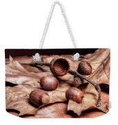 Oak Tree Macro Weekender Tote Bag