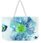 Oceanbreeze Blue-green Windflower Weekender Tote Bag