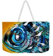 Ochre Fish Four Weekender Tote Bag