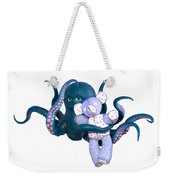 Octopus And Purple Bear Weekender Tote Bag