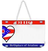 Ohio License Plate Weekender Tote Bag
