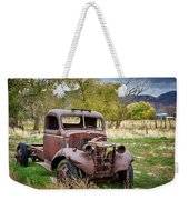 Old Abandoned Chevy Truck Weekender Tote Bag