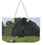 Old Barn And Hay Bales 3 Weekender Tote Bag
